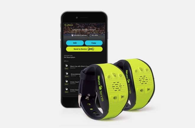 Neurotennis wearable for tennis players