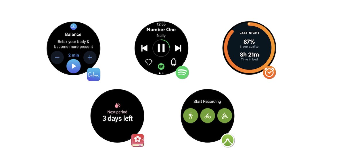 New Apps and Tiles in Wear OS 2.0