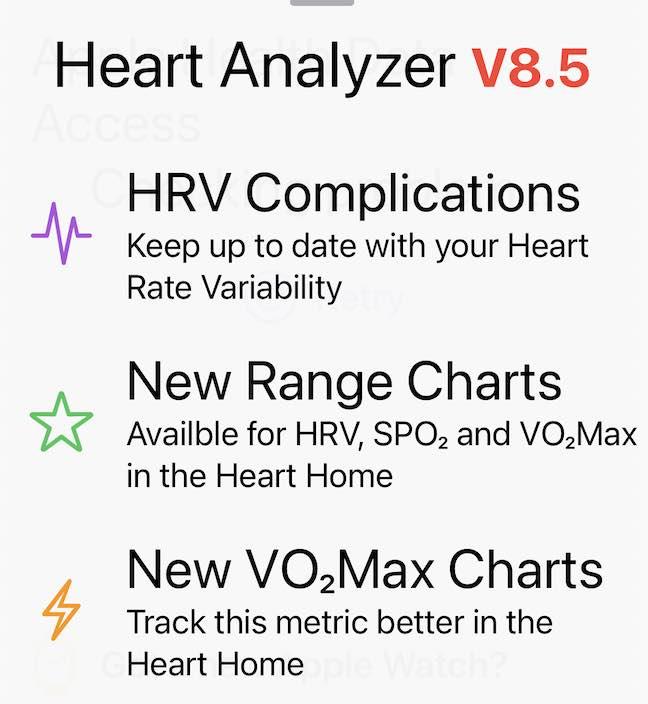 New HeartAnalyzer features