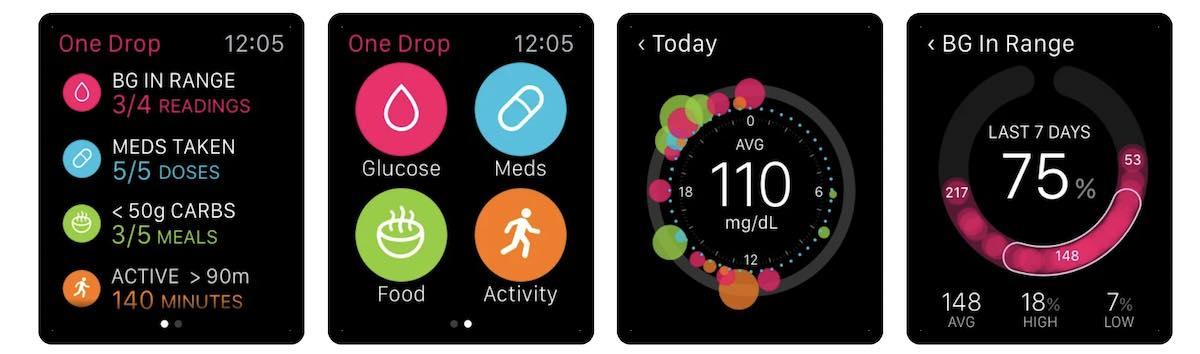 One Drop diabetes app for Apple Watch