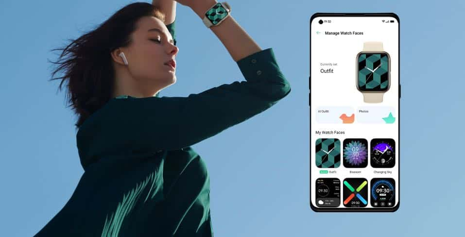 Oppo Watch AI powered watch face