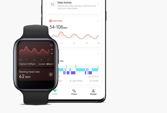 Oppo Watch Health Tracking vs Apple Watch Health tracking