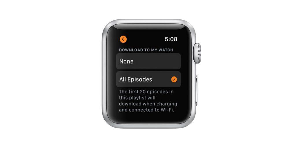 apple watch Overcast podcast app