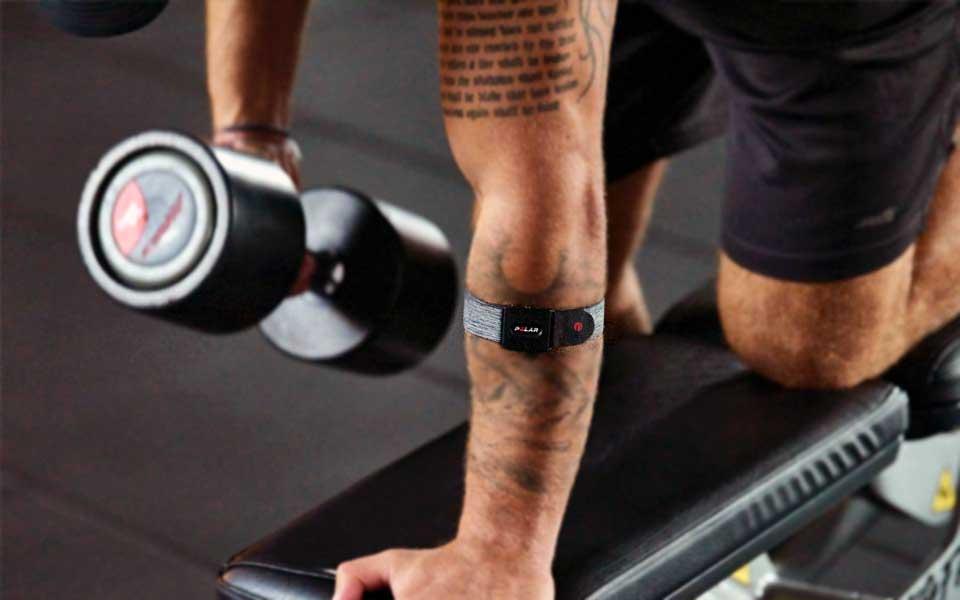 Polar verity Sense arm strap for heart rate monitoring