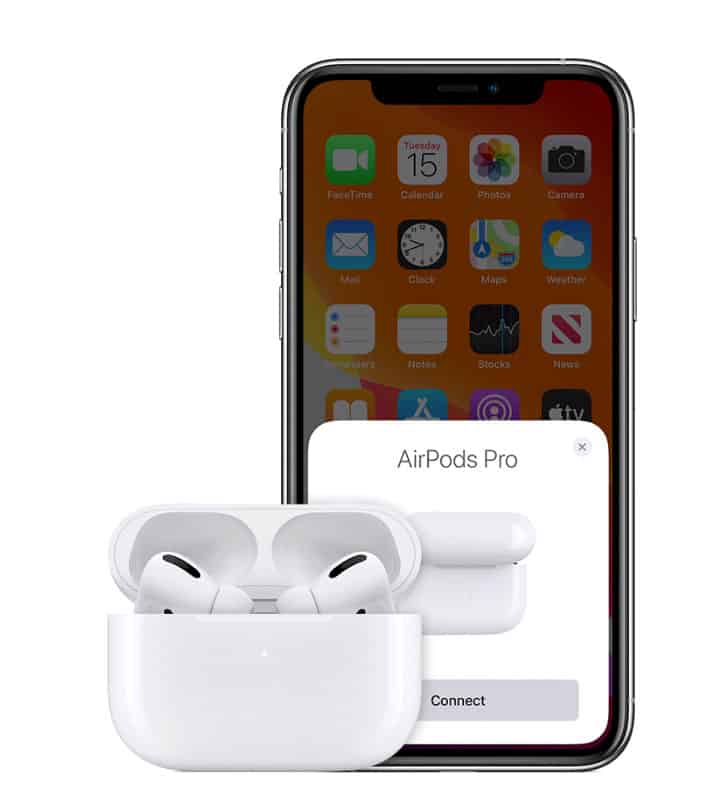 Connect AirPods set up animation screen on iPhone