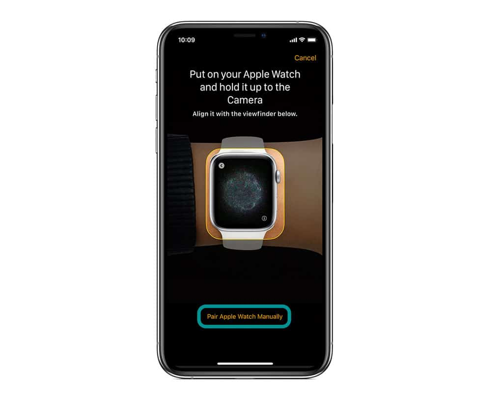 pair your apple watch manually