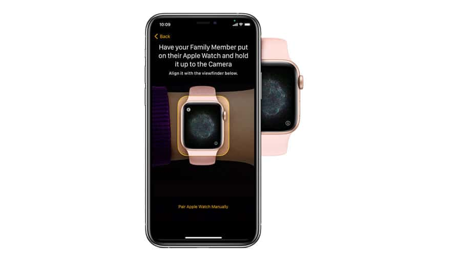 pair apple watch to family iPhone with family setup for apple watch