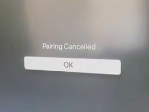 Pairing Canceled Message Apple Fitness+