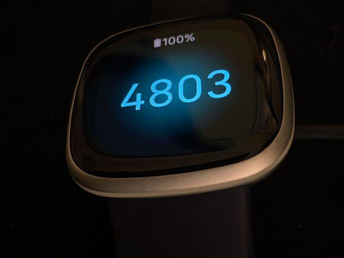 Fitbit Versa 3 pairing code on screen