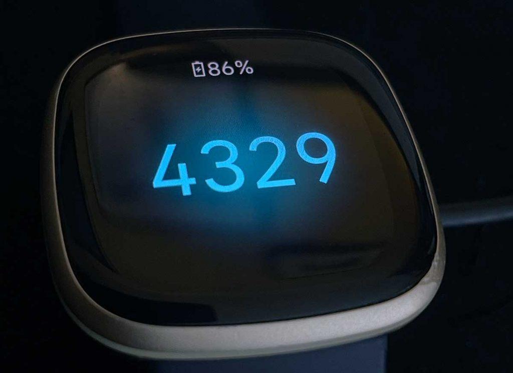Fitbit pairing code on Fitbit Versa 3