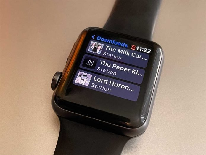 Apple Watch Pandora app playing offline and downloaded music on watch
