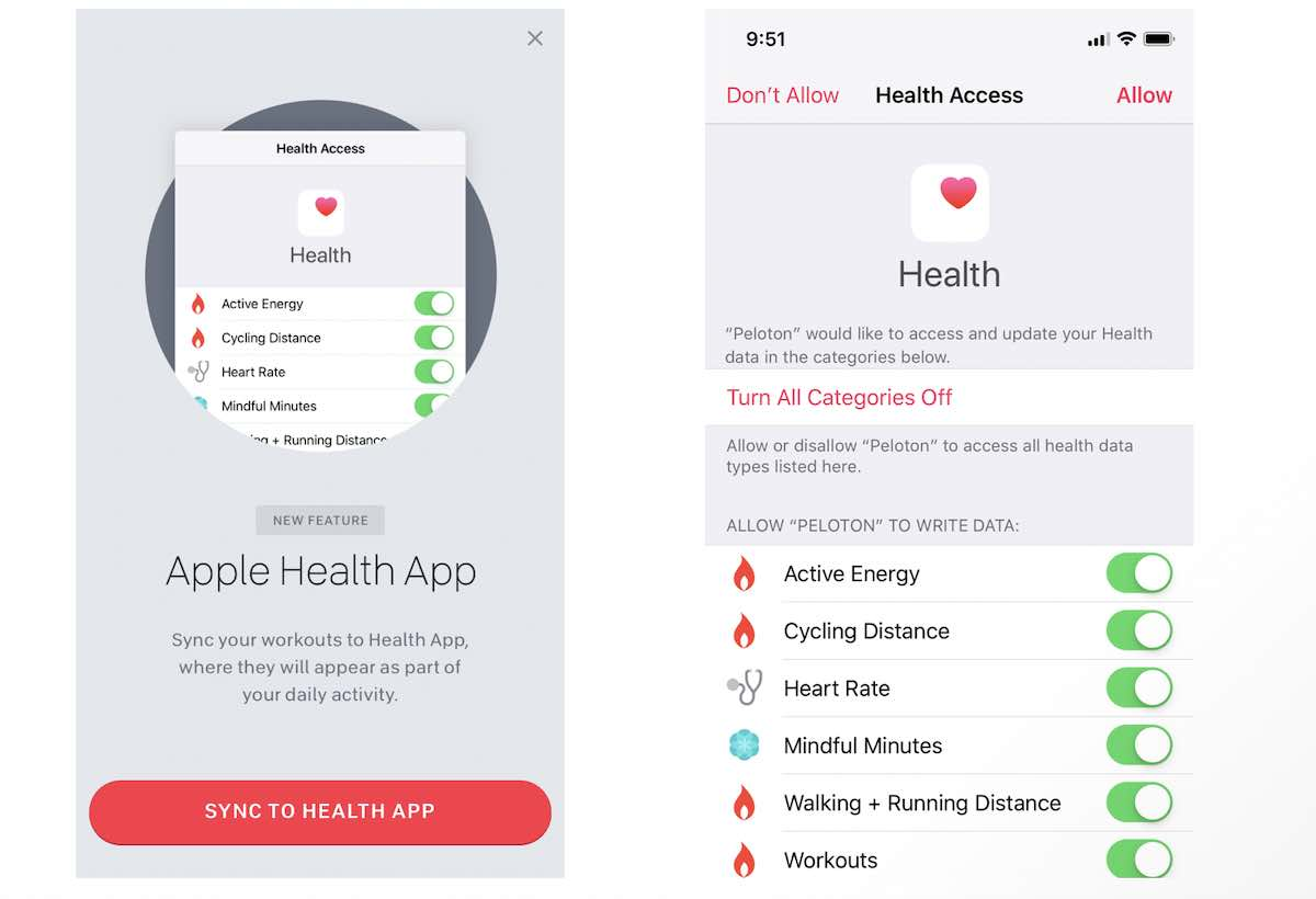 Peloton activity not syncing with Apple Health