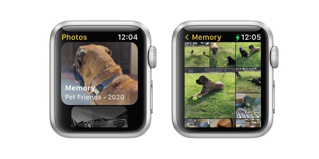 Albums in Apple Watch photos app