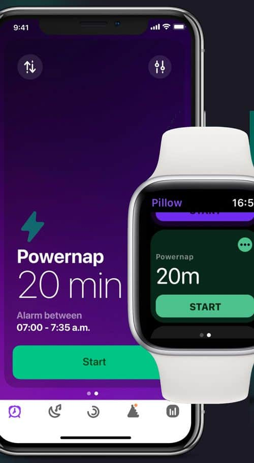 track your naps with Pillow sleep app for Apple Watch, iPhone, and iPad