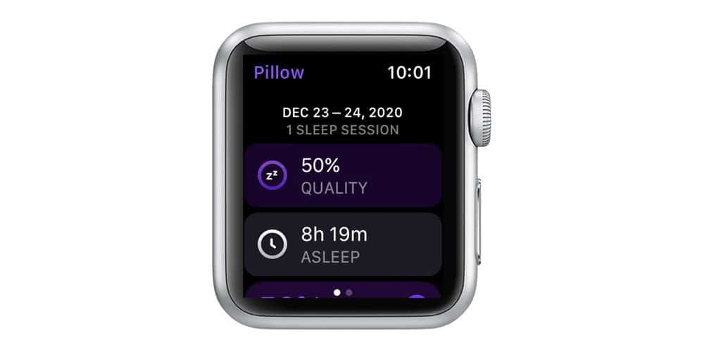 Free plan features for Pillow sleep app on Apple Watch