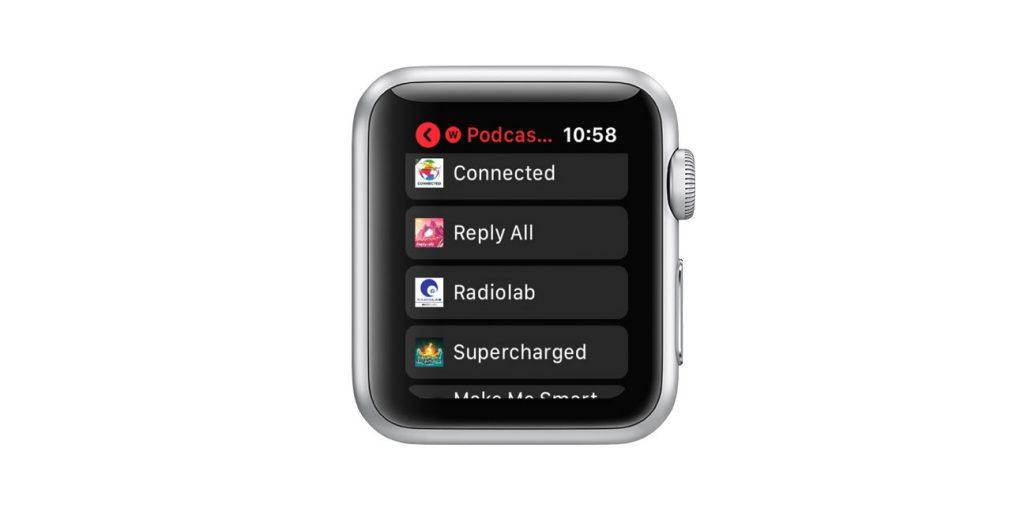 apple watch pocket casts app