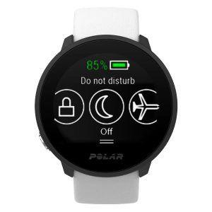 Quick Settings menu on Polar Untie smartwatch
