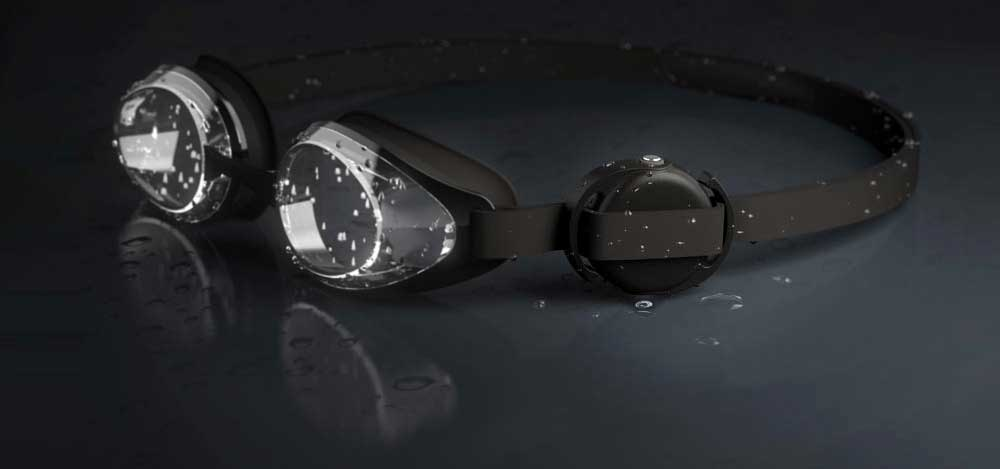 You can put the Polar Verity Sense heart rate sensor on your swimming goggles