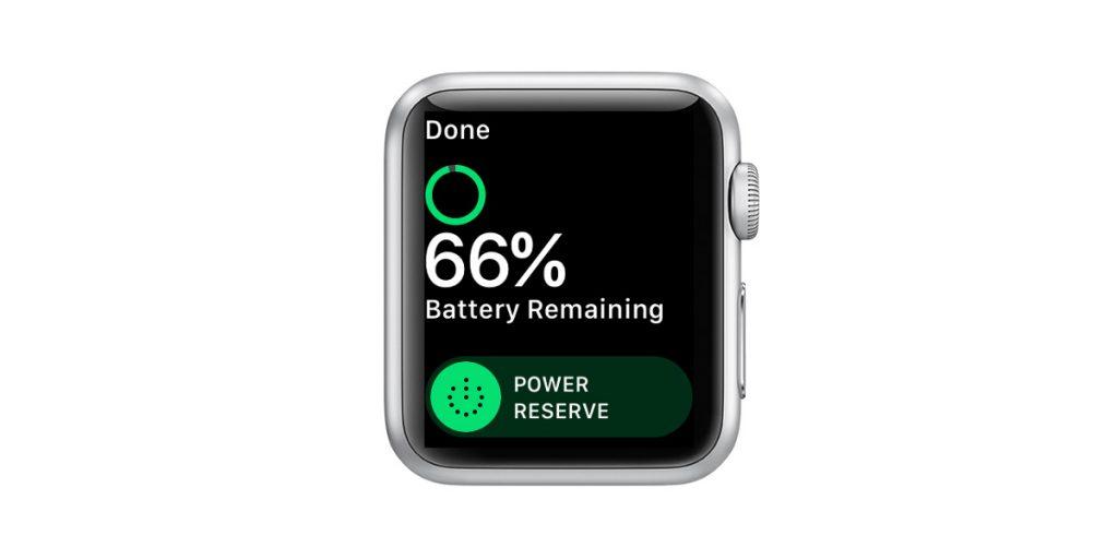 apple watch power reserve mode low power mode