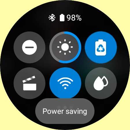 power savings mode turned on Galaxy Watch 4