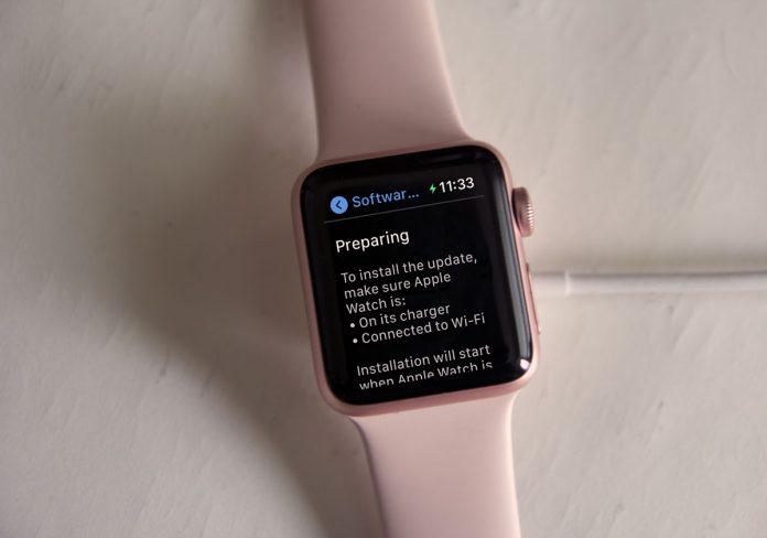 Apple Watch preparing watchOS update
