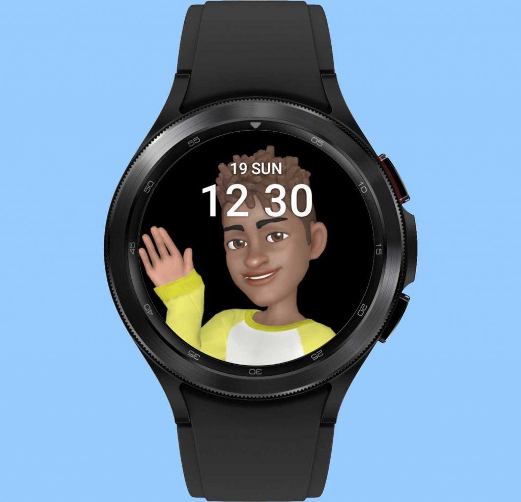 preset AR animated Emoji on galaxy watch 4