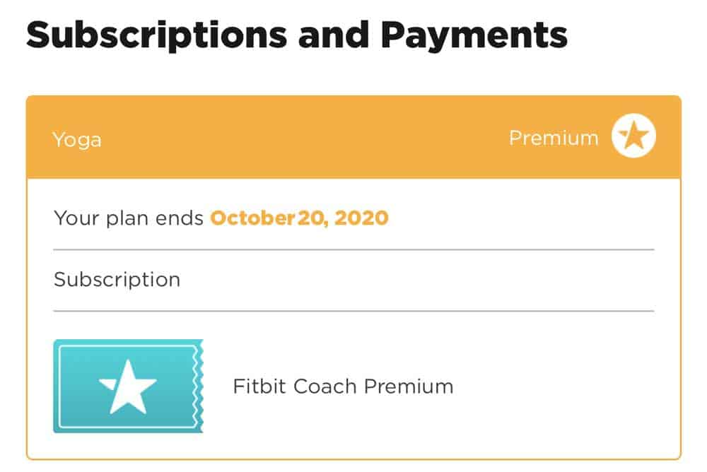 Fitbit coach subscription already cancelled