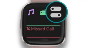 Quick settings icon on Fitbit Versa and Ionic
