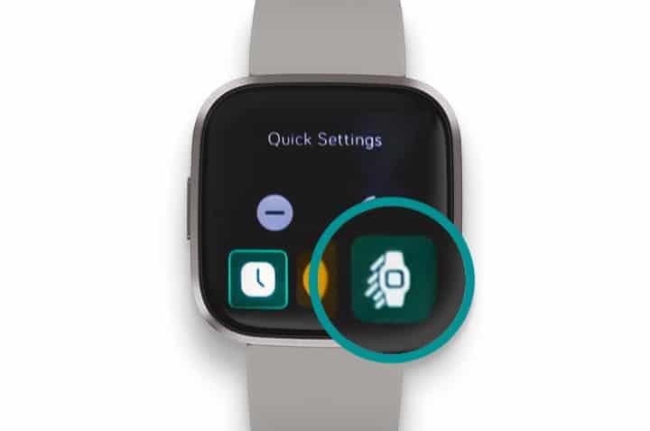 Fitbit Versa Quick Settings for screen wake