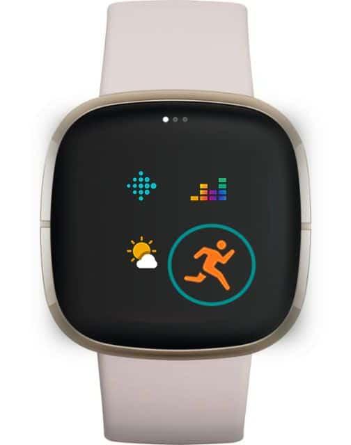 reorder apps on Fitbit smartwatch app screens