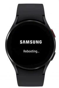 force restart and reboot Samsung Galaxy 4 watch