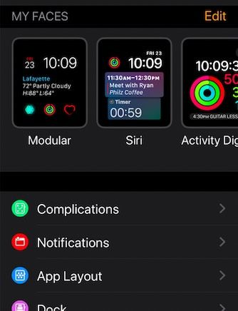 Recover Missing Apple Watch faces