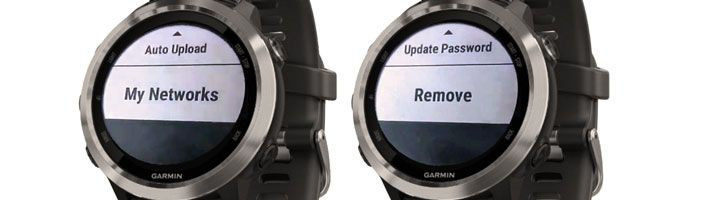 remove or forget a wifi network on your Garmin smartwatch