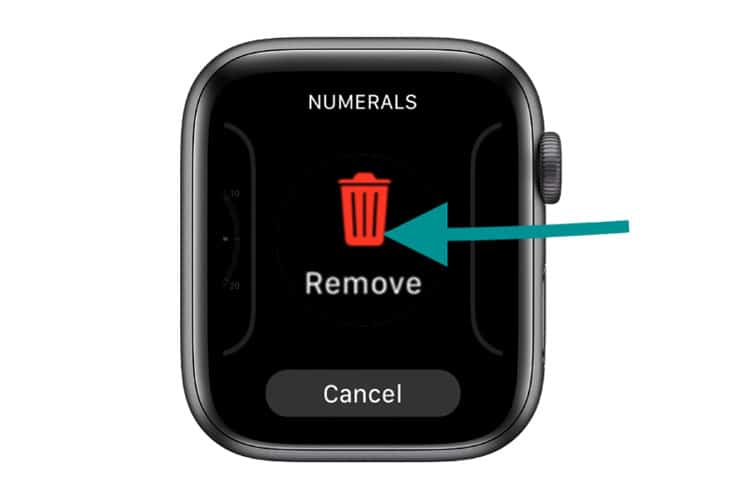 delete an apple watch face without your paired iPhone and the watch app
