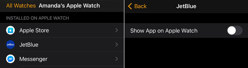 Delete third party apps from Apple Watch