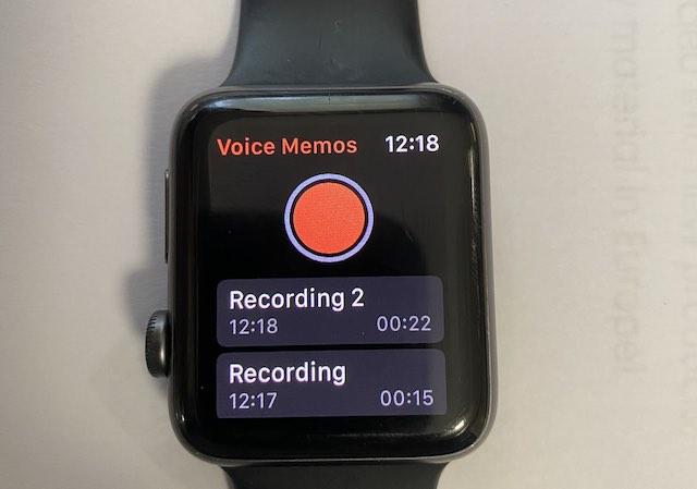 Renaming Voice memos on Apple Watch