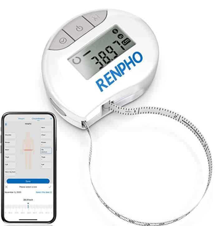 Get your body measurements with Renpho Smart Tape Measure