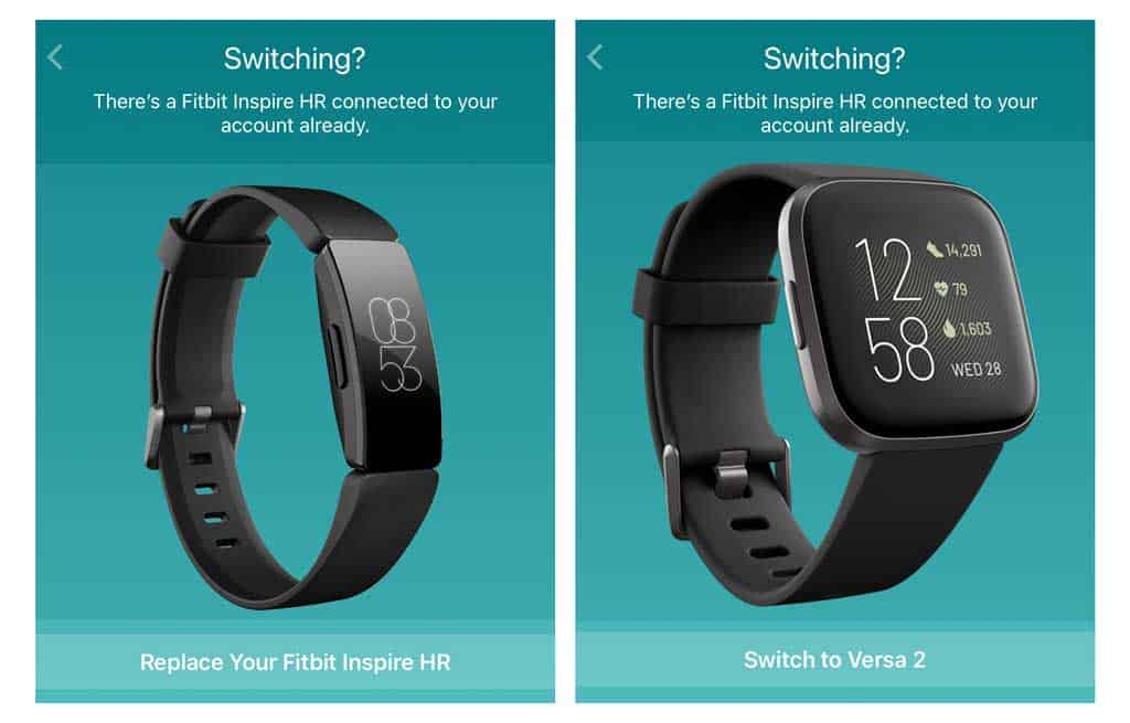 switch or replace a Fitbit