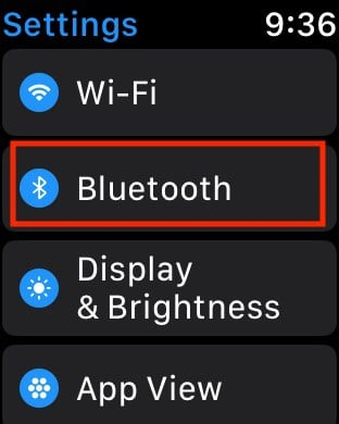 Reset Bluetooth on Apple Watch for missing Peloton data