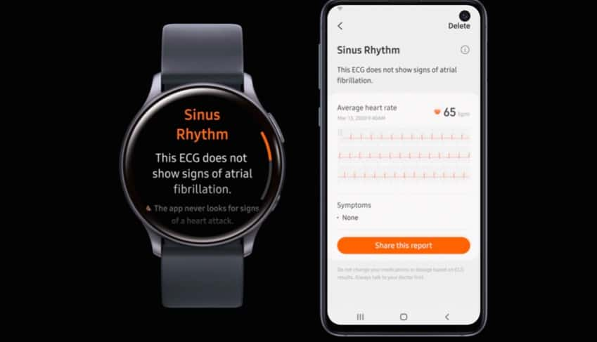 Samsung Galaxy Watch Active 2 blood pressure feature
