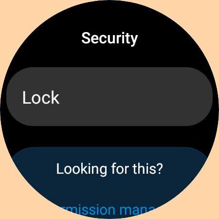 security lock setting on Samsung Galaxy watch 4