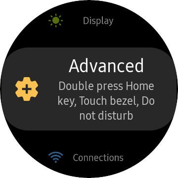 Advanced Settings in Samsung Galaxy Watch