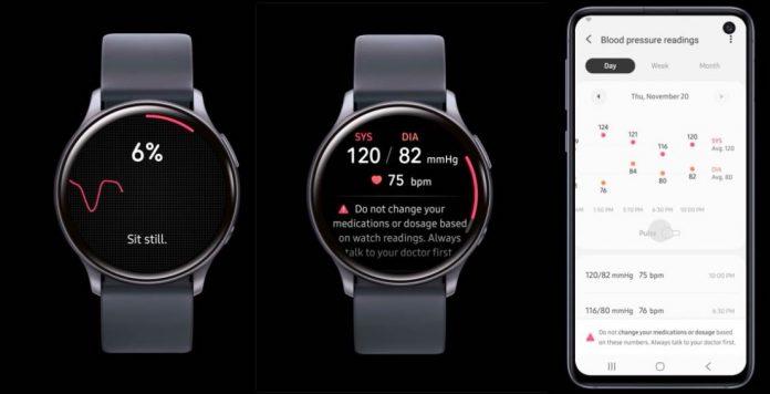 Samsung Galaxy Watch Blood pressure monitor