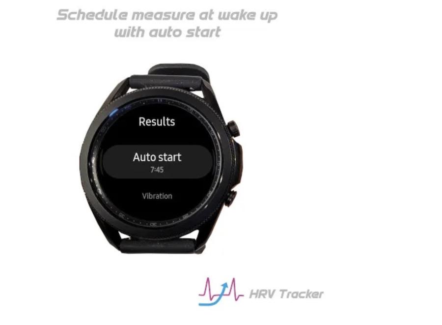 Samsung Galaxy watch HRV tracker