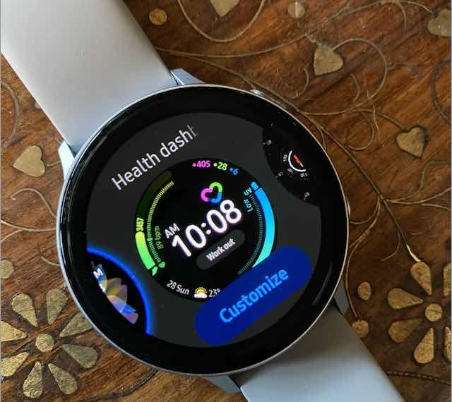 Health Dashboard on Samsung Galaxy Watch