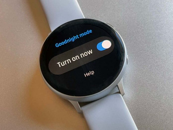 goodnight mode on Samsung Galaxy watch