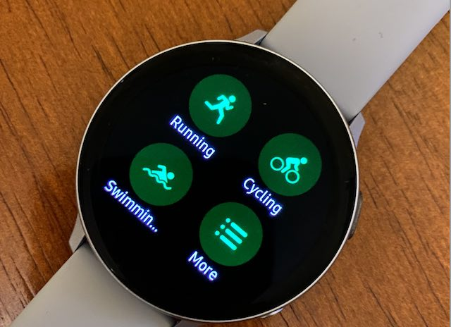 Samsung Galaxy Watch exercise settings