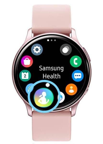Galaxy smartwatch Samsung Health app