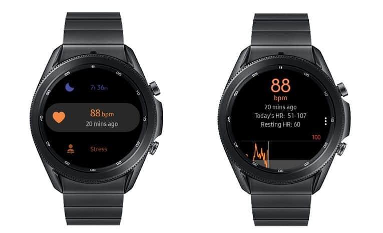 heart rate settings and metrics on Samsung Health app Galaxy smartwatch