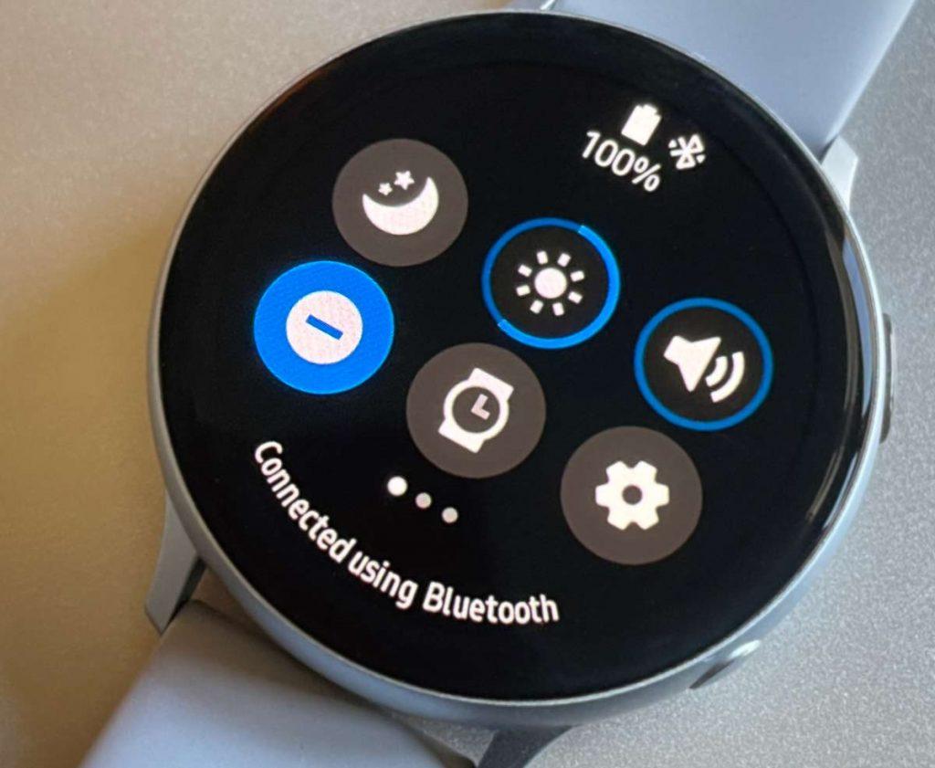 DND Do Not Disturb in Samsung Galaxy watch Quick Settings